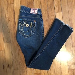 True Religion Bobby Big T Jeans Flare Size 24